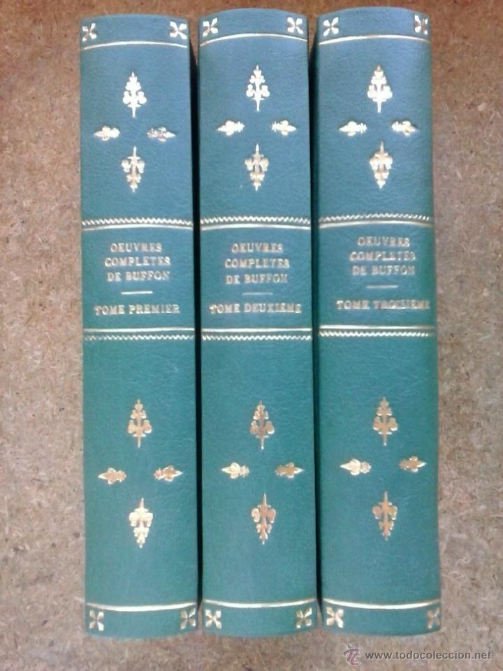 Libros antiguos: 3 volúmenes de Oeuvres completes de Buffon (1819) / Comte de Lacepède. Rara edición.. - Foto 3 - 47112943