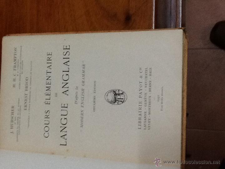 Libros antiguos: COURS ELEMENTAIRE DE LANGUE ANGLAISE. 1932 - Foto 2 - 47131219