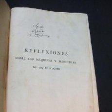 Libros antiguos: 1791 - REFLEXIONES SOBRE LAS MAQUNAS Y MANIOBRAS DE USO DE A BORDO ORDENADAS POR FRANCISCO CISCAR - . Lote 47157506