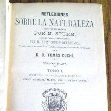 Libros antiguos: 2 TOMOS COMPLETO - REFLEXIONES SOBRE LA NATURALEZA ESCRITAS EN ALEMÁN POR. M. STURM 1901. Lote 47175514