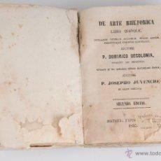 Libros antiguos: DE ARTE RHETORICA LIBRI QUINQUE P. DOMINICO DECOLONIA AÑO 1853. Lote 47188630