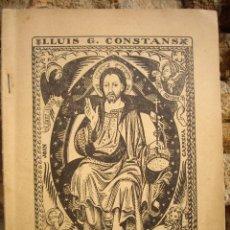 Libros antiguos: LLUÍS G. CONSTANS: DE LA FOSCA A LA LLUM (PROSES DE REFLEXIÓ) IMPREMTA F.MATEU, BANYOLES 1926. Lote 47241216