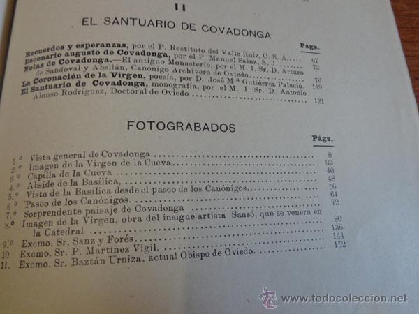 Libros antiguos: BATALLA Y SANTUARIO DE COVADONGA. TRADICION, MONUMETO, HISTORIA. - Foto 7 - 47247856