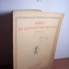Libros antiguos: ARXIUS DE L'INSTITUT DE CIENCIES - ANY IV - Nº 3 (1917) EL PROBLEMA DE MALFATTI - EN CATALÁN. Lote 47287920