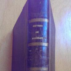 Libros antiguos: OEUVRES COMPLETES DE DIDEROT TOMO II EDITORIAL GARNIER FRÉRES AÑO 1875 SIGLO XIX. Lote 47325336