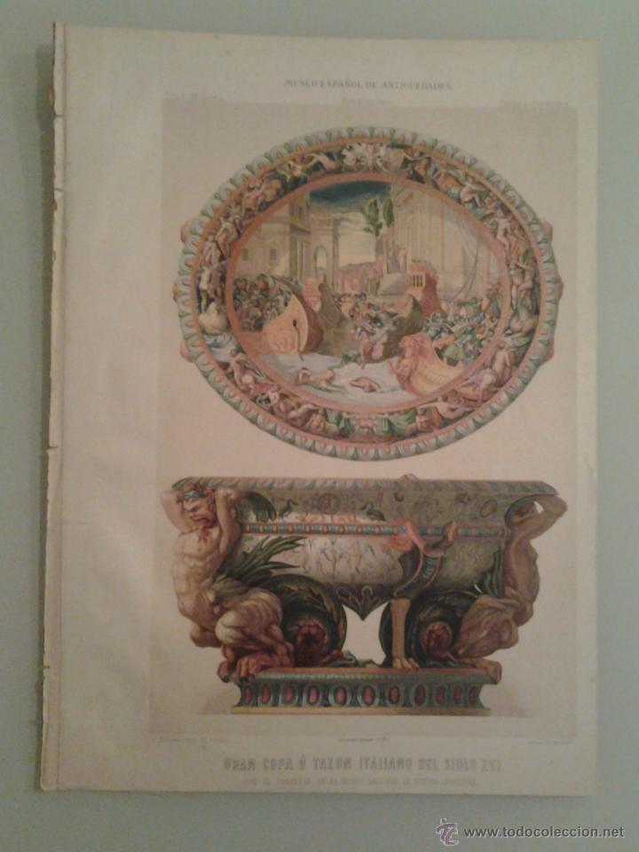 1875 - GRAN COPA O TAZON ITALIANO DEL SIGLO XVI ... - RADA Y DELGADO, JUAN DE DIOS DE LA (Libros Antiguos, Raros y Curiosos - Cocina y Gastronomía)
