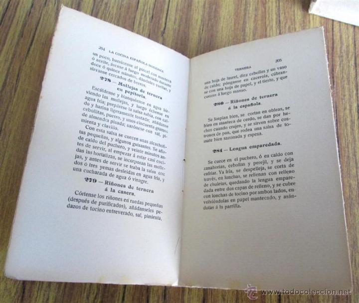 Libros antiguos: 2 libros - La Cocina Española Antigua y cocina española moderna -- Por Condesa de Pardo Bazan 1900 - Foto 5 - 47351822
