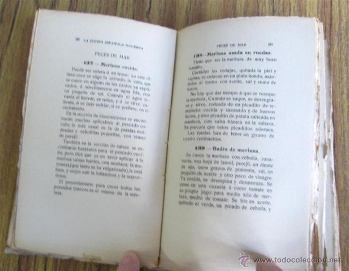Libros antiguos: 2 libros - La Cocina Española Antigua y cocina española moderna -- Por Condesa de Pardo Bazan 1900 - Foto 6 - 47351822