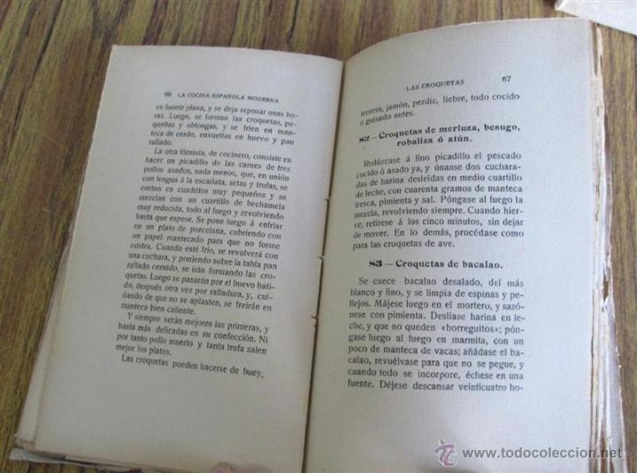 Libros antiguos: 2 libros - La Cocina Española Antigua y cocina española moderna -- Por Condesa de Pardo Bazan 1900 - Foto 7 - 47351822