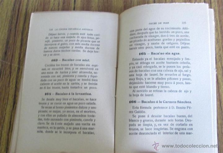 Libros antiguos: 2 libros - La Cocina Española Antigua y cocina española moderna -- Por Condesa de Pardo Bazan 1900 - Foto 9 - 47351822