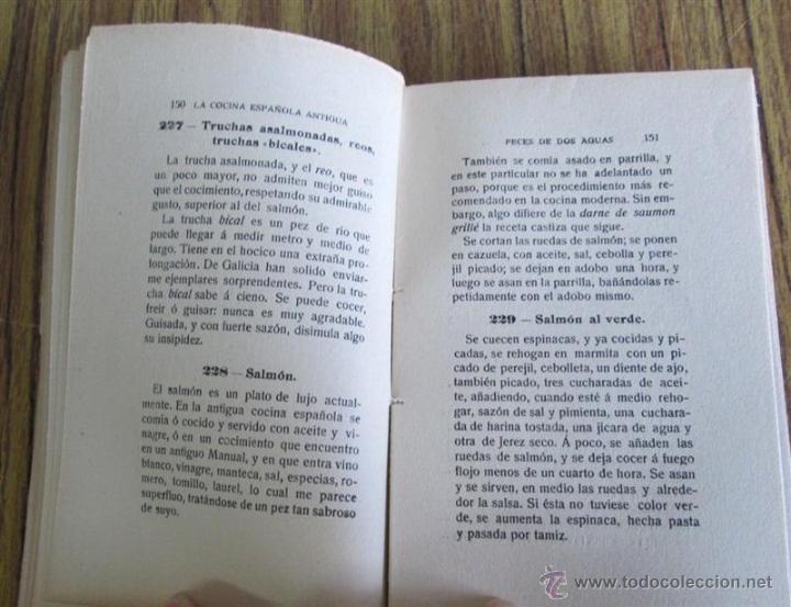 Libros antiguos: 2 libros - La Cocina Española Antigua y cocina española moderna -- Por Condesa de Pardo Bazan 1900 - Foto 10 - 47351822