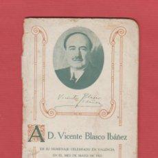 Libri antichi: VICENTE BLASCO IBÁÑEZ-HOMENAJE EN VALENCIA-1921-DISCURSO W.MILLER-UNIVERSIDAD G.WASHINGTON-LCV111. Lote 47467736