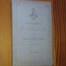 Libros antiguos: AYUNTAMIENTO CONSTITUCIONAL DE BARCELONA, 1890. Lote 47483860