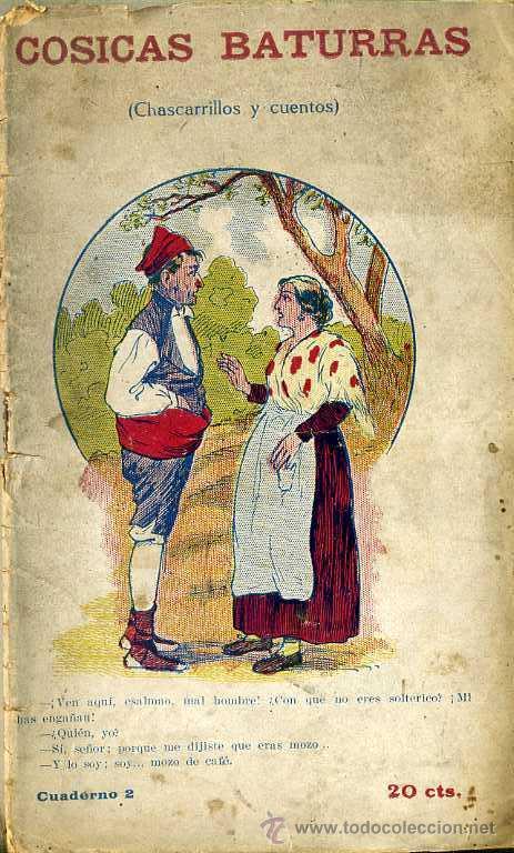 COSICAS BATURRAS - CHARCARRILLOS Y CUENTOS (COMAS, C. 1920) (Libros Antiguos, Raros y Curiosos - Literatura - Otros)
