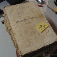 Libros antiguos: ENCICLOPEDIA MODERNA DICCIONARIO UNIVERSAL DE LITERATURA CIENCIAS ARTE AGRICULTURA INDUSTRIA. Lote 47519513