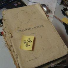Libros antiguos: ENCICLOPEDIA MODERNA DICCIONARIO UNIVERSAL DE LITERATURA CIENCIAS ARTE AGRICULTURA INDUSTRIA. Lote 47519527