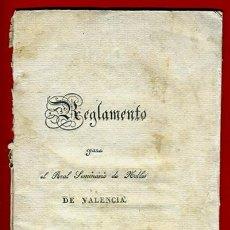 Libros antiguos: LIBRO FOLLETO , INSTRUCCION REGLAMENTO DE NOBLES DE VALENCIA , 1827 , ORIGINAL. Lote 47558408