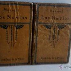Libros antiguos: LOS NOVIOS, MANZONI 1920. 2 TOMOS. CASINO RECREATIVO ABLAÑA.. Lote 47569613