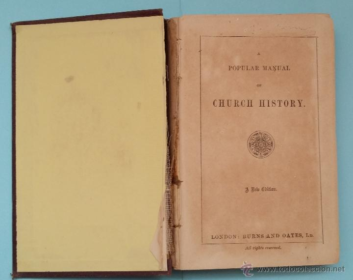 POPULAR MANUAL OF CHURCH HISTORY 1857 (Libros Antiguos, Raros y Curiosos - Otros Idiomas)