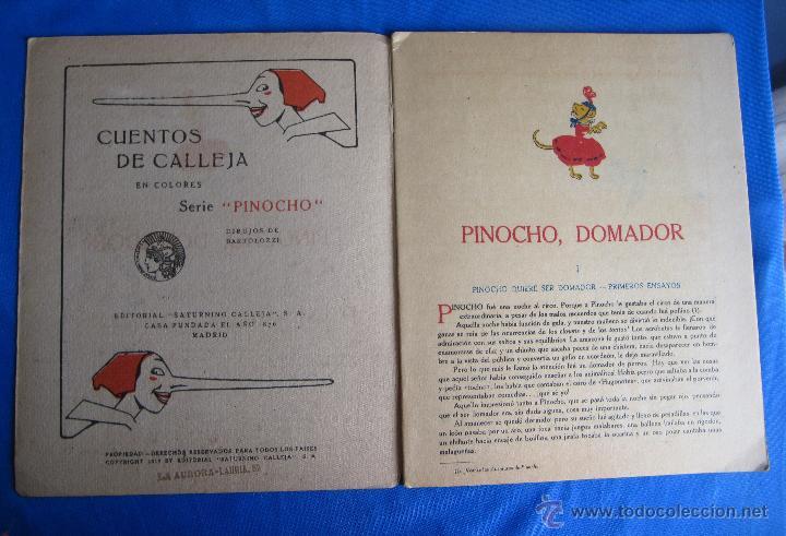 Libros antiguos: CUENTOS DE CALLEJA EN COLORES. SERIE PINOCHO. PINOCHO DOMADOR. EDITORIAL SATURNINO CALLEJA, 1919. - Foto 2 - 47655192