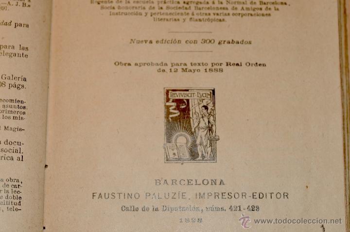 Libros antiguos: FLORA LA EDUCACION DE UNA NIÑA PILAR PASCUAL DE SANJUAN AÑO 1898 - Foto 3 - 47697602
