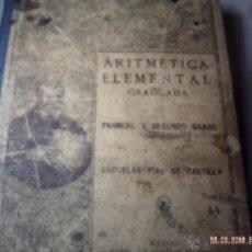 Libros antiguos: ARITMÉTICA ELEMENTAL PRIMER Y SEGUNDO GRADO 1926 ESCUELAS PÍAS. SAMARÁN Y COMPAÑÍA.. Lote 47772043