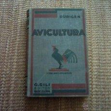 Libros antiguos: BRUNO DÜRIGEN. TRATADO DE AVICULTURA. TOMO II: CRÍA Y APROVECHAMIENTO. 1931. ILUSTRADO. 1ª EDICIÓN.. Lote 47777280