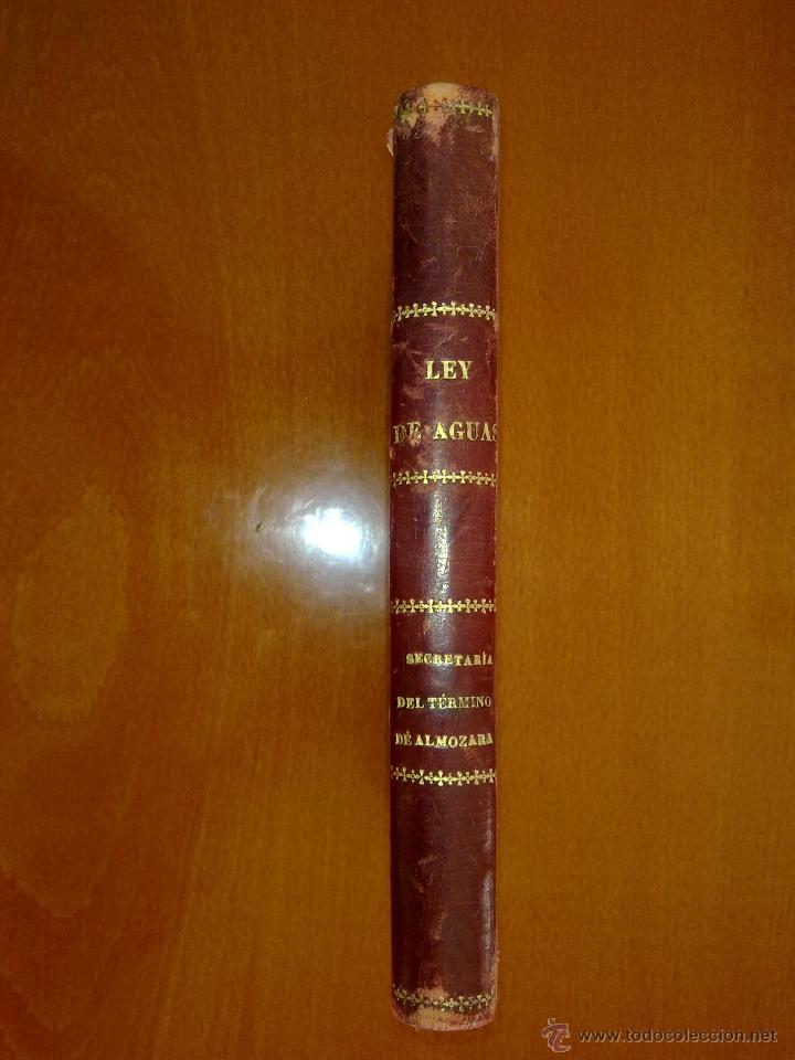 Libros antiguos: MOVÍSIMAS LEYES DE AGUAS, PUERTOS Y CANALES - Foto 2 - 47841998