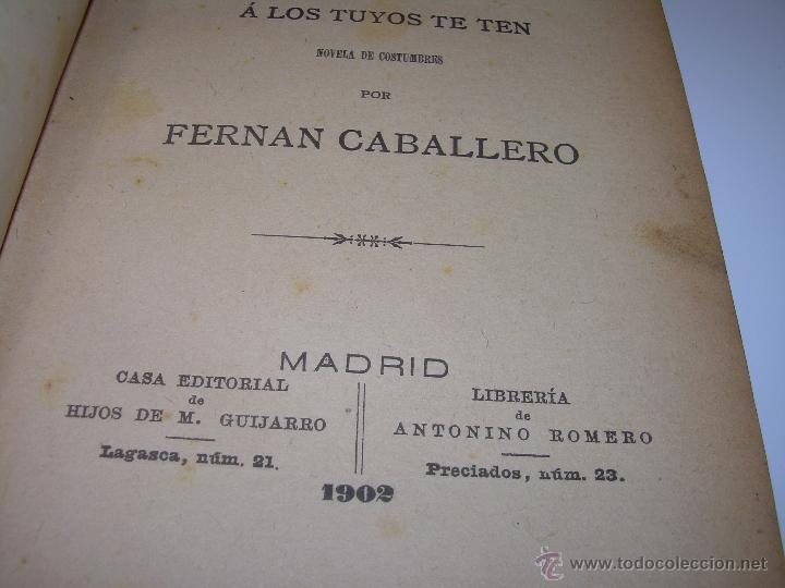 Libros antiguos: LIBRO TAPAS DE PIEL.....UNA EN OTRA....FENAN CABALLERO.....AÑO..1.902 - Foto 4 - 48005487