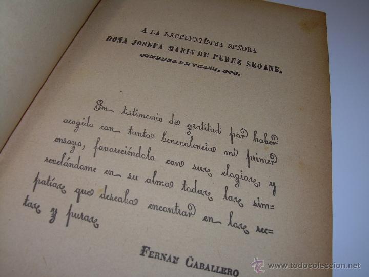 Libros antiguos: LIBRO TAPAS DE PIEL.....UNA EN OTRA....FENAN CABALLERO.....AÑO..1.902 - Foto 5 - 48005487