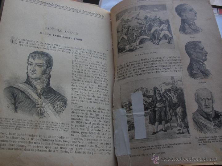 Libros antiguos: BIBLIOTECA PERLA. HISTORIA CRITICA DE ESPAÑA. MANUEL RODRIGUEZ NAVAS. 1899 SATURNINO CALLEJA - Foto 5 - 48015021
