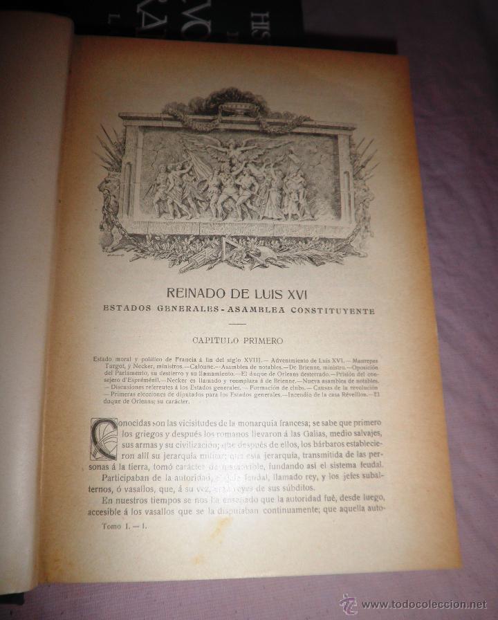 Libros antiguos: HISTORIA DE LA REVOLUCION FRANCESA - THIERS - AÑO 1928 - BELLAS LAMINAS. - Foto 6 - 48055604