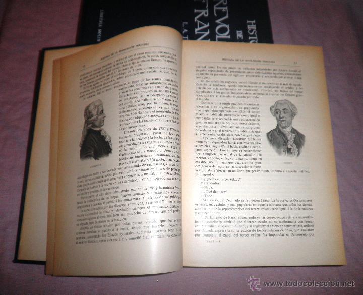 Libros antiguos: HISTORIA DE LA REVOLUCION FRANCESA - THIERS - AÑO 1928 - BELLAS LAMINAS. - Foto 7 - 48055604