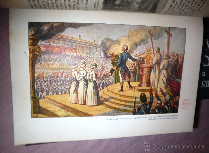 Libros antiguos: HISTORIA DE LA REVOLUCION FRANCESA - THIERS - AÑO 1928 - BELLAS LAMINAS. - Foto 9 - 48055604