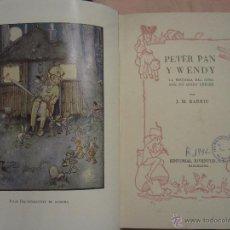 Livros antigos: PETER PAN Y WENDY. Lote 48077025