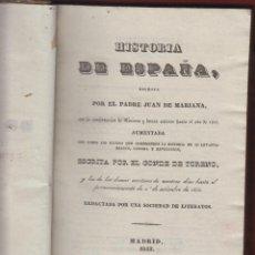 Libros antiguos: HISTORIA DE ESPAÑA ESCRITA POR EL PADRE JUAN DE MARÍA-MADRID 1841 202 PAG. LH65. Lote 48150697