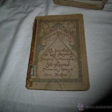 Libros antiguos: EL JARDIN DE LOS DESEOS.POESIAS BERBERISCAS.SID MOJAND 1914.MADRID-BUENOS AIRES . Lote 48269451