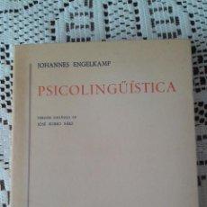 Libros antiguos: PSICOLINGÜÍSTICA JOHANNES ENGELKAMP ED. GREDOS 1ª EDICION. Lote 48293109