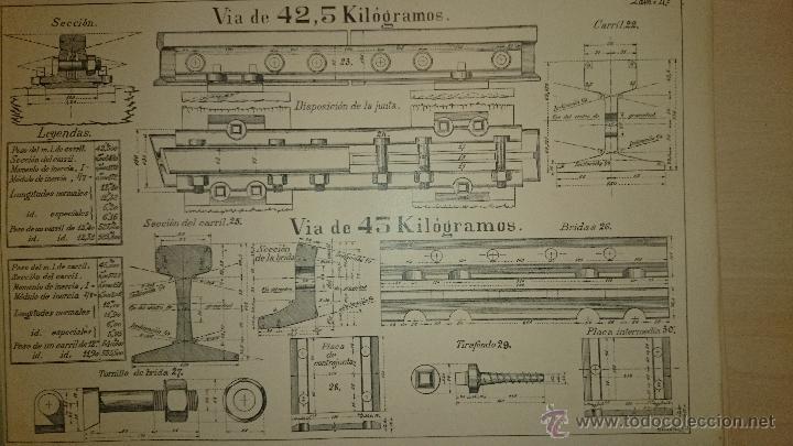 Libros antiguos: MANUAL PRACTICO DEL CAPATAZ Y ASENTADOR DE VÍA - TEXTO + ATLAS - TRENES - Cáceres 1917 - Foto 2 - 48327220
