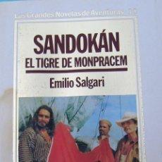 Libros antiguos: SANDOKAN-EL TIGRE DE MONPRASEM. Lote 48339410
