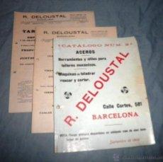Libros antiguos: CATALOGOS HERRAMIENTAS R.DELOUSTAL - AÑO 1908 - MUY ILUSTRADOS.. Lote 48372450