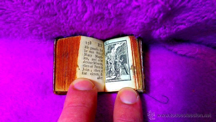 Libros antiguos: MINIATURA, LA BIBLIA Y LIBRO MAS PEQUEÑO DEL MUNDO DE IMPRENTA TRADICIONAL, R.WILKIN 1727 - Foto 4 - 48389353