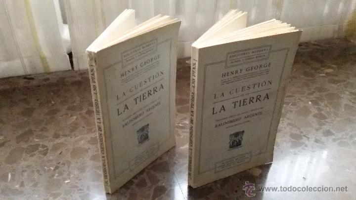 2 LIBROS IGUALES DE 1910. LA CUESTION DE LA TIERRA. BALDOMERO ARGENTE. SEGUNDA EDICIÓN CORREGIDA (Libros Antiguos, Raros y Curiosos - Pensamiento - Otros)