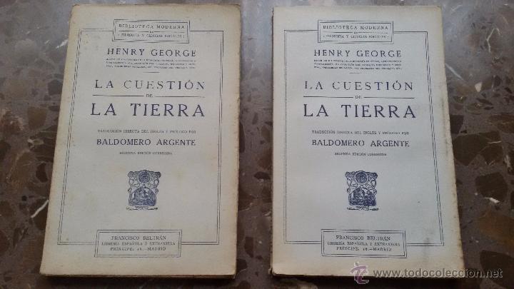 Libros antiguos: 2 LIBROS IGUALES DE 1910. LA CUESTION DE LA TIERRA. BALDOMERO ARGENTE. SEGUNDA EDICIÓN CORREGIDA - Foto 2 - 48461648
