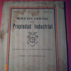 Libros antiguos: BOLETIN OFICIAL DE LA PROPIEDAD INDUSTRIAL-REGISTRO PROP. INDUST. 1 AGOSTO 1934- AÑO IL - Nº1150. Lote 48488010