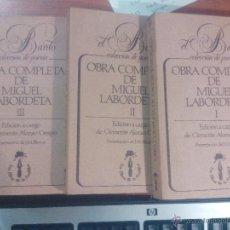 Libros antiguos: OBRA COMPLETA. LABORDETA. 3 TOMOS. Lote 48516442