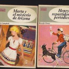 Libros antiguos: HEROES JUVENILES - LOTE 4 EJEMPLARES NUMEROS 2, 7, 10 Y 12 -EDITA : BRUGUERA 1970 1ª EDICION. Lote 48594850