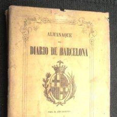 Libros antiguos: ALMANAQUE DEL DIARIO DE BARCELONA 1864; V FOTOS. Lote 48671459