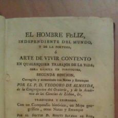 Libros antiguos: 1788 EL HOMBRE FELIZ - P. D. TEODORO DE ALMEYDA / MAPA Y GRABADOS TOMO III. Lote 48689871