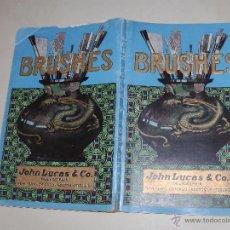 Libros antiguos: CATALOGO BRUSHES. Lote 48705560